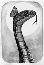 Day 7. Snake and butterfly by Lusidus