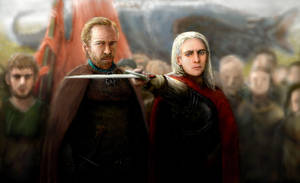 Jorah and Viserys - Where is My Crown? by modji-33