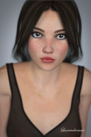 Mia - Hair Down, Exposed by luxrenderman