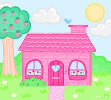 Pink little cottage by steffne