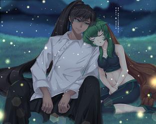 Commission - Yari and Saru by Shirogahara