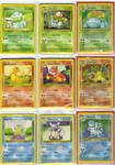 Pokemon cards starter groups by Mitsi1991