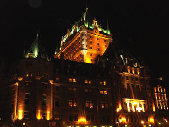 Chateau Frontenac at Night by afroza