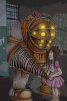 Big Daddy and Little Sister by CrossdressingKuja