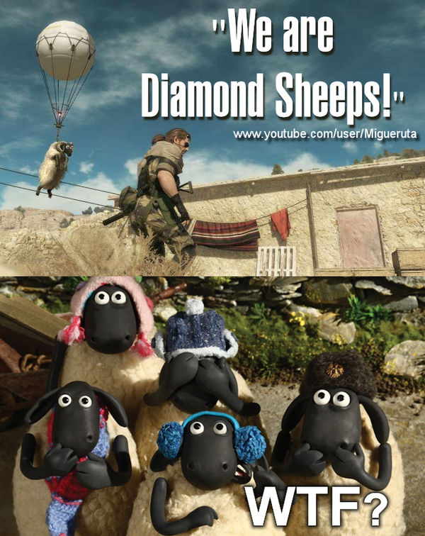 Mgs5 The Phanton Pain We Are Diamond Sheeps By Miguelfight On