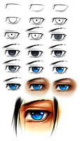 Manly eye step by step by AikaXx