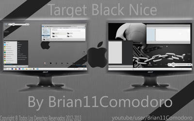 New Theme Target Black Nice For Windows By Brian by Brian11Comodoro