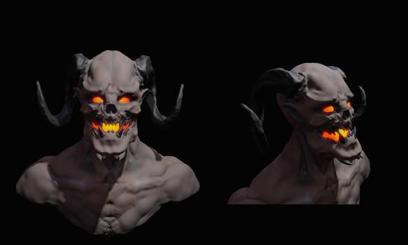 Experiments in Oculus Medium - Demon 2 by zombat