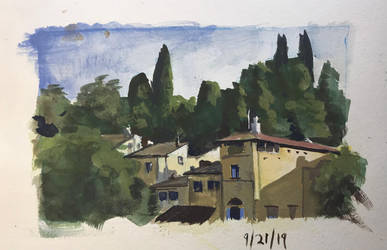 Gouache Sketch - Florence by zombat