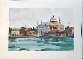 Gouache Sketche - Venice by zombat