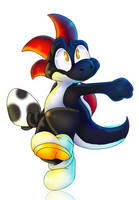 Black Yoshi by PlagueDogs123