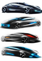 futuristic cars by paulo78