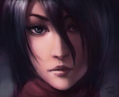Mikasa by bearcub