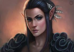 Elf Portrait by bearcub