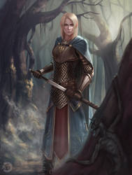 [CM] Silvan Elf Cleric by bearcub