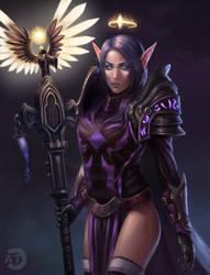[CM] Quel'dorei Priestess by bearcub