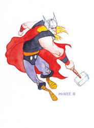 Thor Watercolor by gmckee
