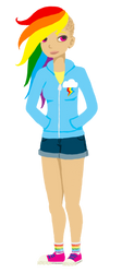 human!Rainbow Dash by unearthlychild