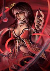 Dark Fina from Final Fantasy Brave Exvius by Akhelois08