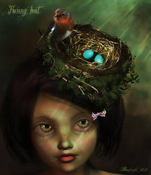 Funny hat/ bird's nest hair by Ranlinde