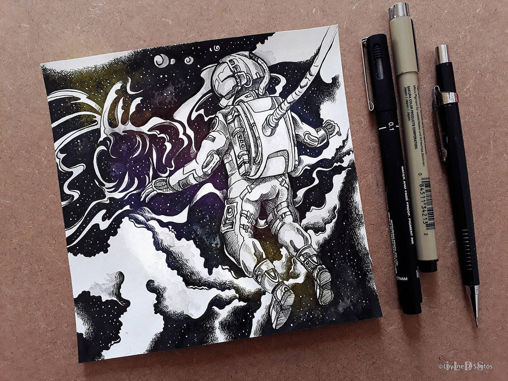 .Inktober Day 1 - Exploration by iLDS