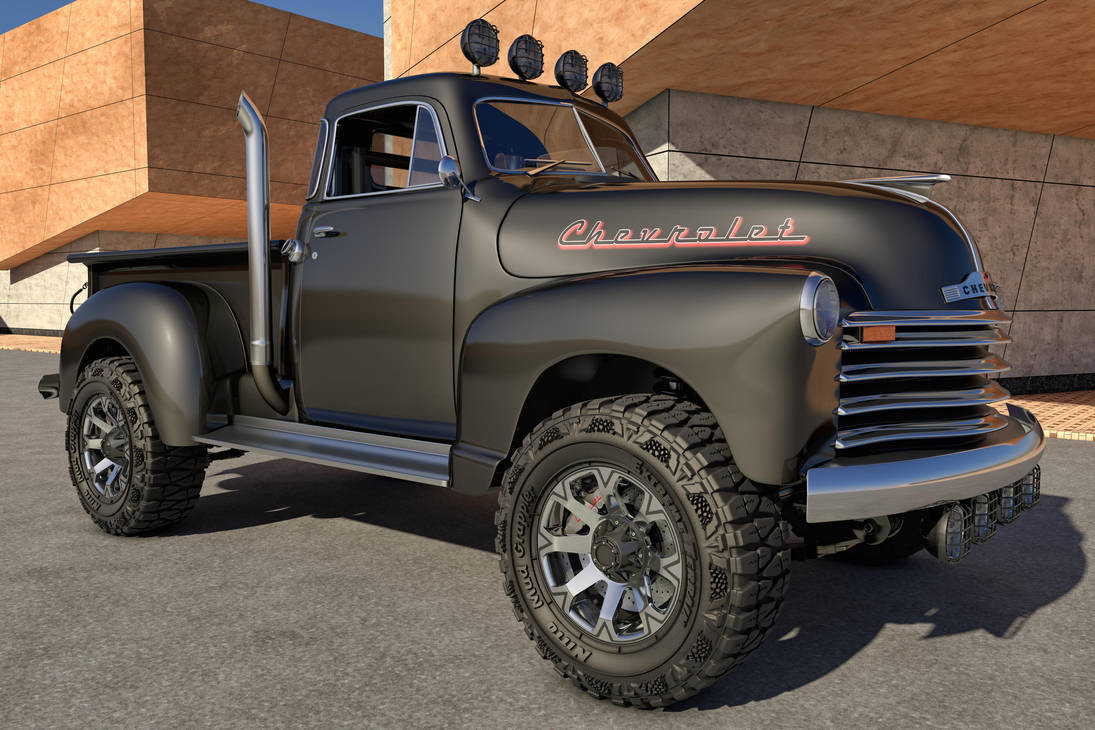 1951 Chevrolet Pickup 4x4 By Samcurry On Deviantart Truck