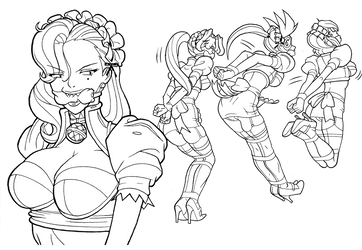 Hopping Maids Inks by we-r-nomad