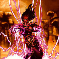 Sith Sorcerer casting Force Storm by AHague