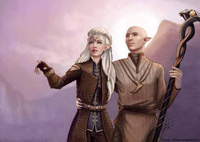 Finding Skyhold - Solas and Inquisitor by AHague