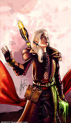 Dragon Age Inquisition - Aspen the elvish mage by AHague