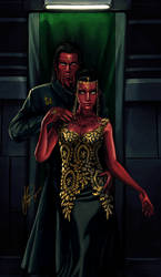 Sith pureblood couple, Tekthon and Harleen by AHague