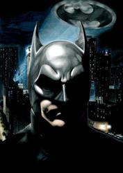 Gotham's Protector    Batman Portrait by ShayneMurphy