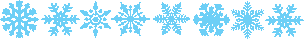 Snow flakes divider - Blue by Stygma