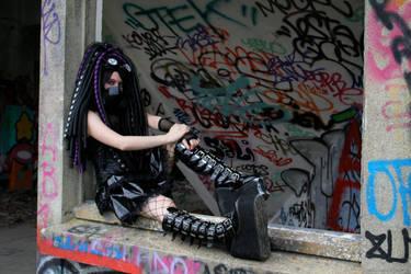 Purple Infection - III - Cybergoth by Nephelith