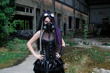 Purple Infection - IV - Cybergoth by Nephelith