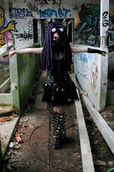 Purple Infection - VI - Cybergoth by Nephelith