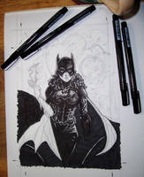 WIP Batgirl - half done, by Resa by resa-challender