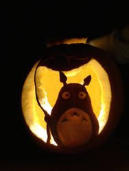 Totoro Pumpkin by Bakura8290