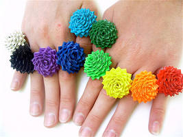 Rainbow of Duct Tape Rings by bobtheenchantedone