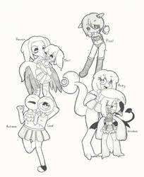 Ask monster girl squad by TheSparkledash