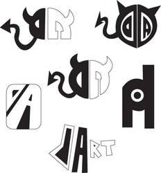 DA Epic Logo Sketches by KrimzonDestiny