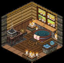Mountain House Sauna by Cutiezor