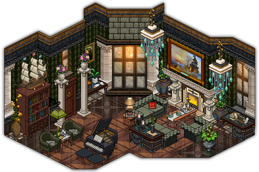 Vicotrian House Living Room by Cutiezor