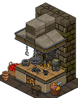 Middle Ages Stove - Kitchen WIP by Cutiezor