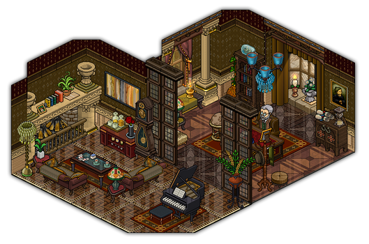 Study and living room design by Cutiezor