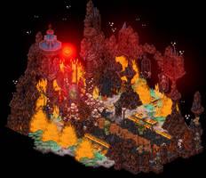 Hell's throne - Halloween 2017 by Cutiezor