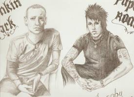 Linkin Park and Papa Roach by MyXFuckingXRomance
