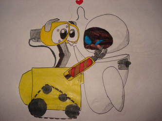 wall-e and eve-a by babi--s