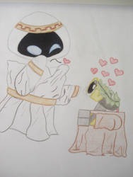 Grecian Eve and Wall-e by babi--s