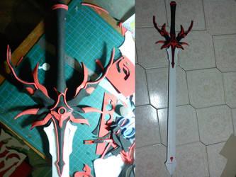 Hikaru Shidou sword (WIP) by Kerse101